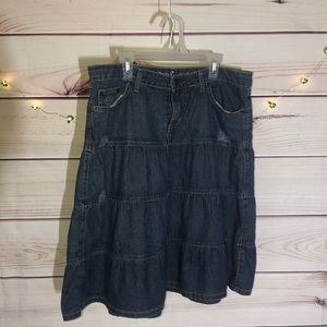 ☀️☀️☀️ANTHROPOLOGIE (LUX) JEAN SKIRT